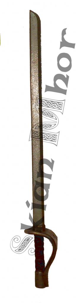 Cutlass with basket hilt, made by Skian Mhor - full view